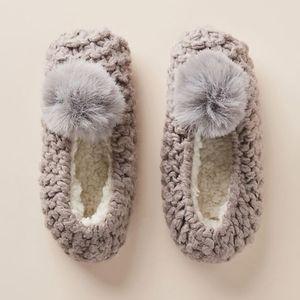 Lemon Marie Pommed Sock Slippers